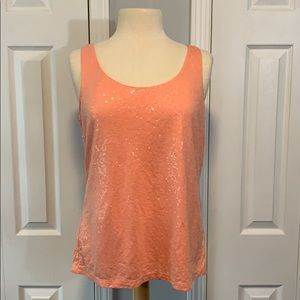 Talbots sequins tank top